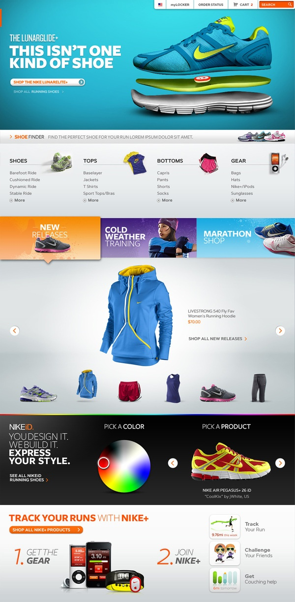 Future Trends and Multi-channel retailing. Nike's Website.