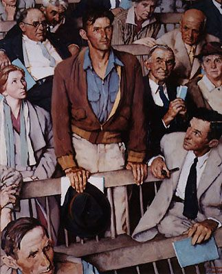 "Norman Rockwell,  was such a great artist. I love how he captured emotions and expressions.  All his works tell a great story.  I want to live in the America he painted. See his "" Freedom of Speech"" above."