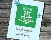 Jingle Gel Electrophoresis Christmas / Seasonal Card | Biology, Molecular Biology, Chemistry | Professor Student Teacher Scientist Engineer