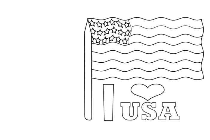 Printable American Flag Coloring Pages In 2020 Flag Coloring