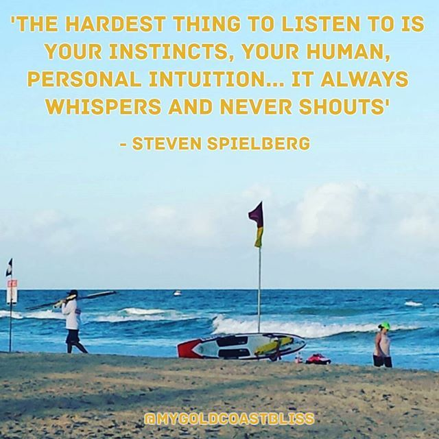 """Steven is a director, screenwriter, producer and editor. He  says """"Every day you have to be ready to hear what whispers in your ear"""". What a life he's made from doing this... making the invisible - visible. 👊💙 #goldcoast #summer #followyourbliss #mindset #beachbum #outdoors #quotes #eastcoast #entrepreneur #surf #surfer #quoteoftheday #beaches #inspire #nevergiveup #stevenspeilberg #motivationalquotes #success #feelgood #views #beach #love #australia"""
