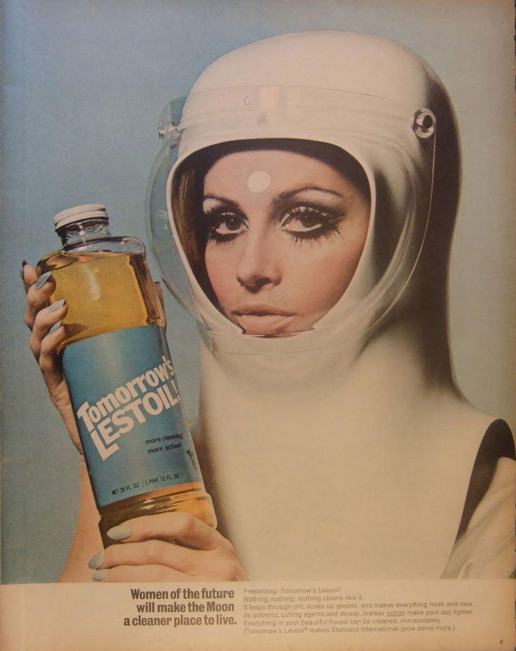 Retro style poster – futuristisch voor huisvrouwen