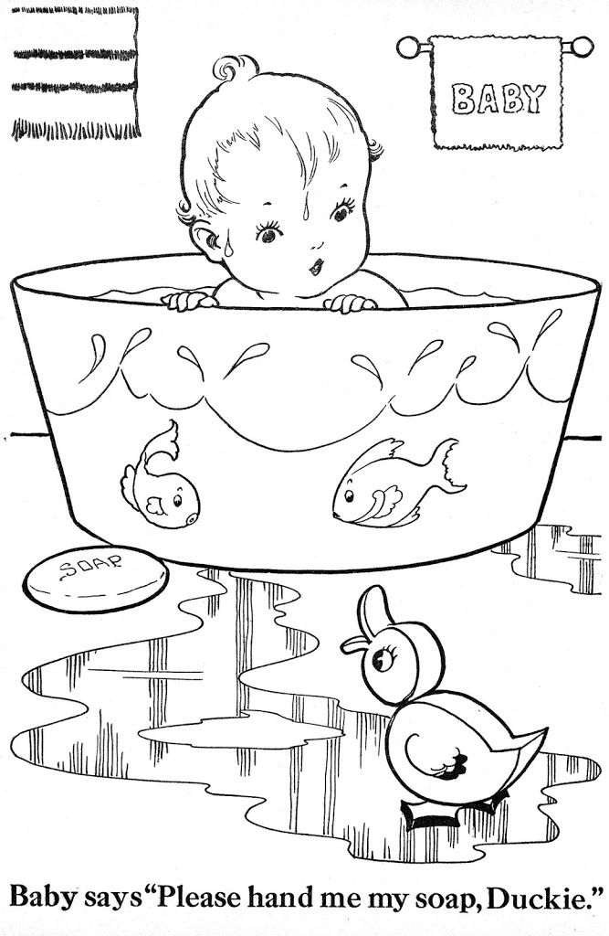 baby toys coloring pages vintage - photo#26