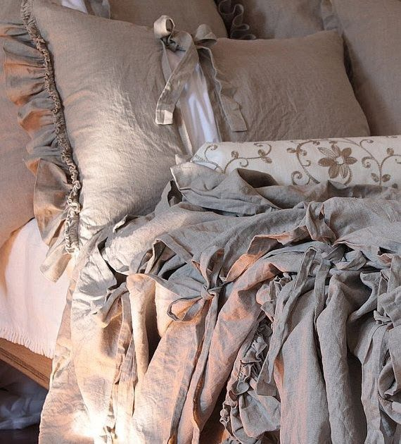 Pure Linen Duvet Cover Diane With Ruffles And Ties Hunting Duvet Covergone Are The Days When Decorat Linen Duvet Covers Duvet Covers Duvet Cover Inspiration