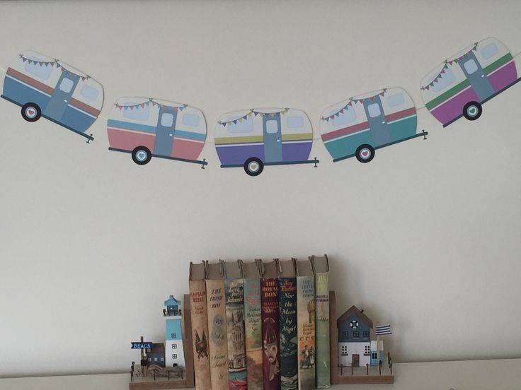 Excited to share this item from my #etsy shop: Vintage Style Caravan Bunting 5 individual vans attached to jute string hand crafted retro style caravan vintage look caravan lovers gift #mothersday #countryfarmhouse #caravanbunting #vintagecaravan #caravandecor