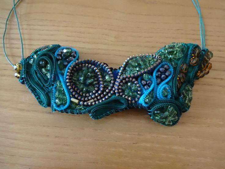 zipper necklace various colours
