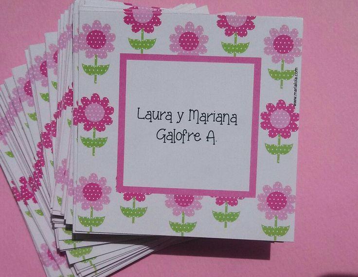Tarjetas personales flores!