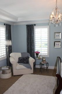 Short Curtain Rods With White Shutters