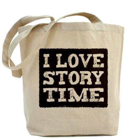 """""""I LOVE STORYTIME': Made of heavy weight cotton canvas #Book_Bag"""