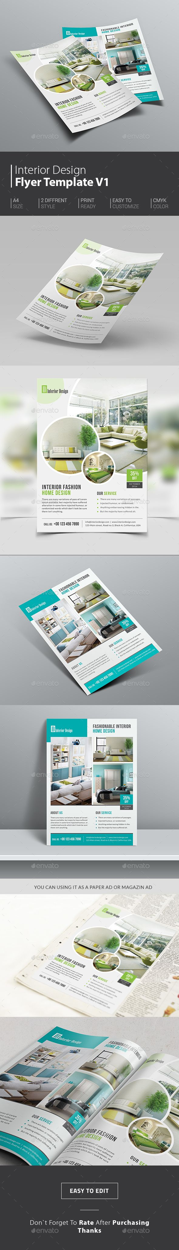 Interior Design Flyer Template-best trending design for bagging more clients.  http://graphicriver.net/item/interior-design-flyer/14911586?ref=themedevisers