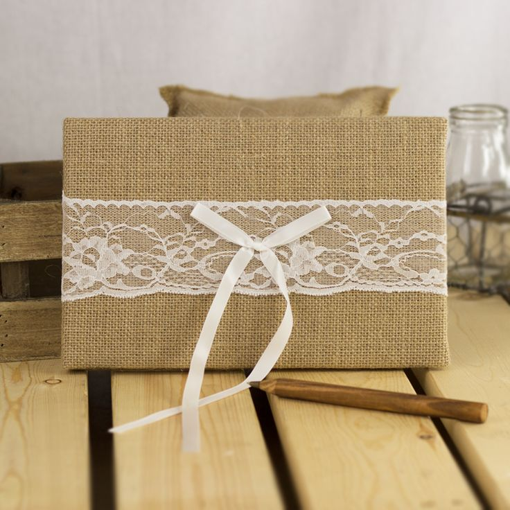 Burlap Guest Book from My Wedding Store