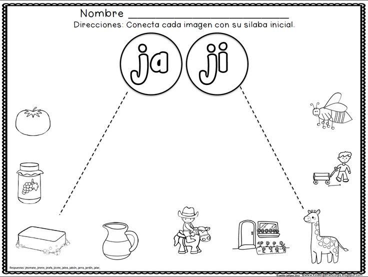 Las silabas gratis | Fonema j | Pinterest | Spanish, Language y Teaching