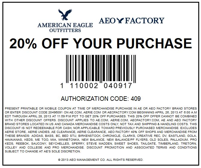 American outfitters online coupons