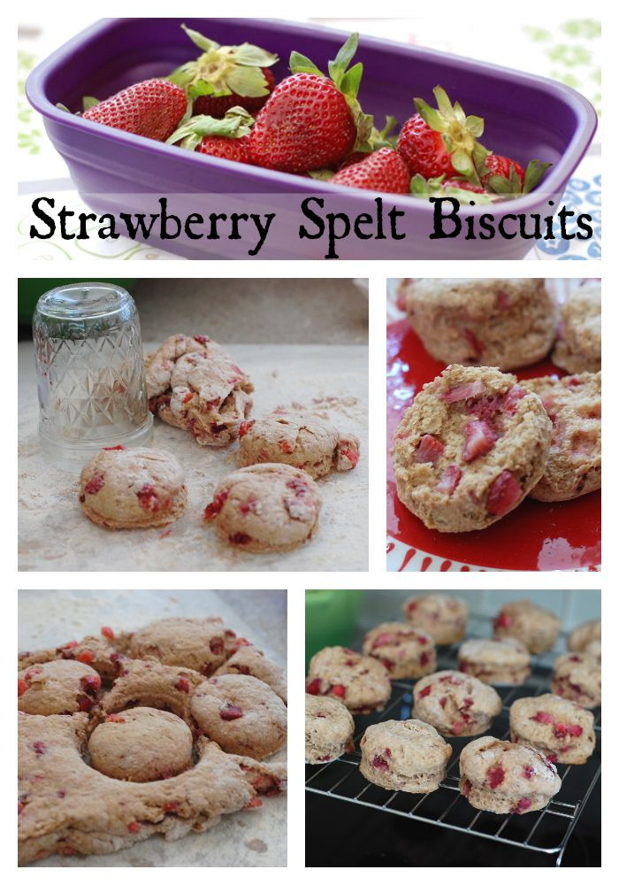 Vegan Strawberry Spelt Biscuits | Healthy Slow Cooking ~ http://healthyslowcooking.com