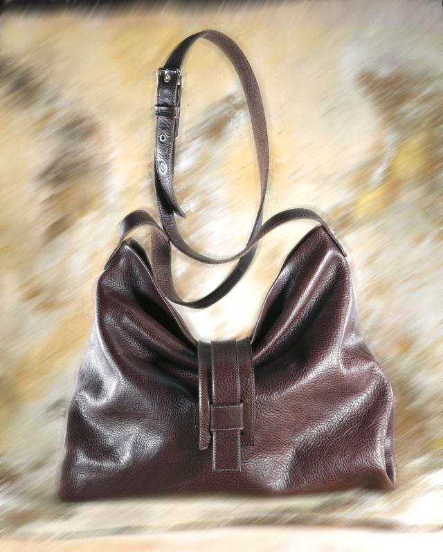 Gemelba - Dark Brown Cross Shoulder Bag 1 Big pocket + one zipper pocket inside