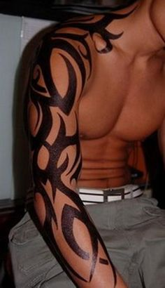 tribal tattoos full sleeve Extreme