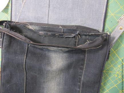 Uszyć torbę denim z jednostką zawór urządzone patchwork małpiej łapy – Ta…