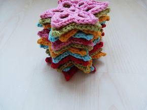 Ilona's blog: Ster haken patroon, crochet star pattern