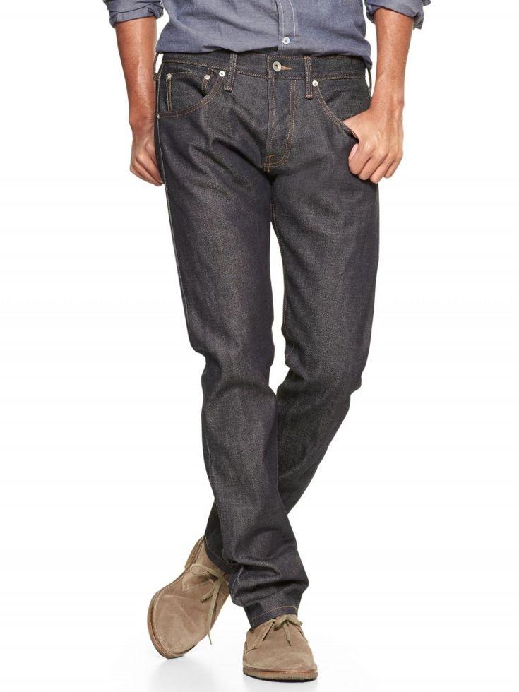 Gap x GQ Baldwin Henley Fit Jeans (orillo en bruto)