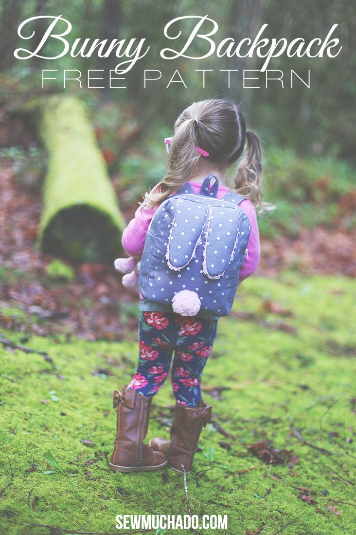 Bunny Backpack tutorial and pattern from Sew Much Ado - Hasen / Oster Rucksack nähen