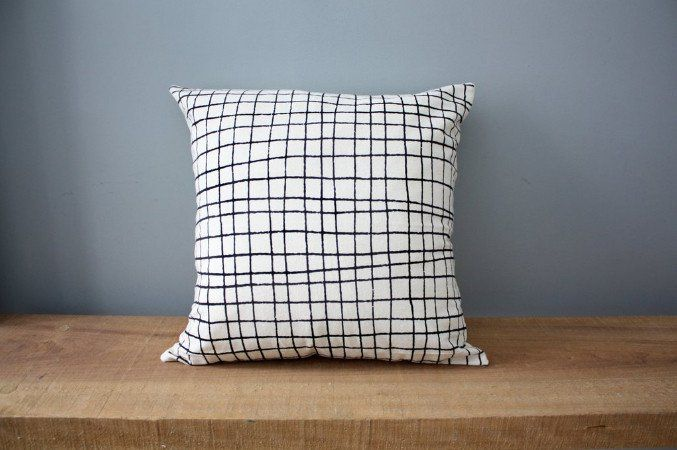 Plaid Organic Cotton Pillow 12x12