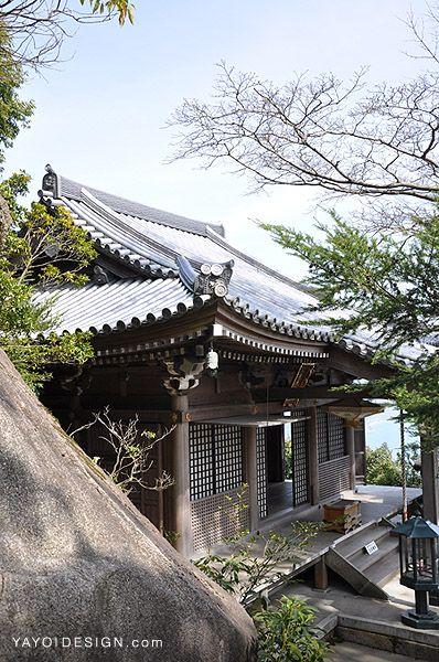 Temple on top of Misen Mt. in Miyajima