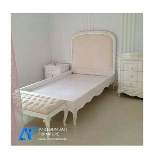 Tempat Tidur Shabby Chic Minimalis Putih | Kamar Anak Shabby Chic