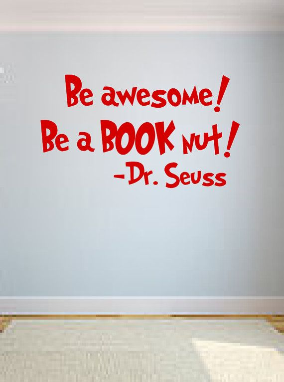 Dr. Suess Quote Wall Decal by OZAVinylGraphics on Etsy, $15.00