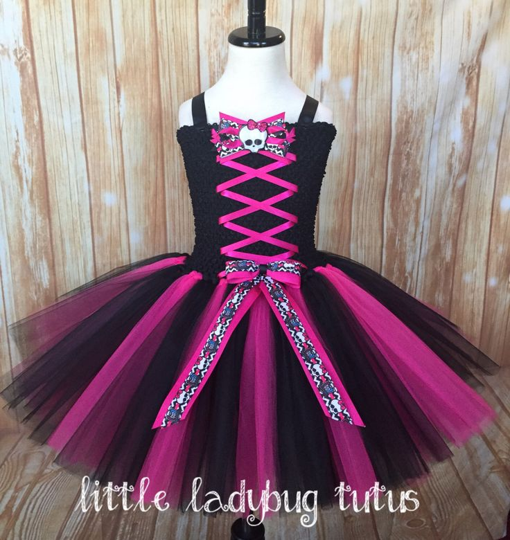 A personal favorite from my Etsy shop https://www.etsy.com/listing/474005461/monster-high-draculaura-costume-tutu