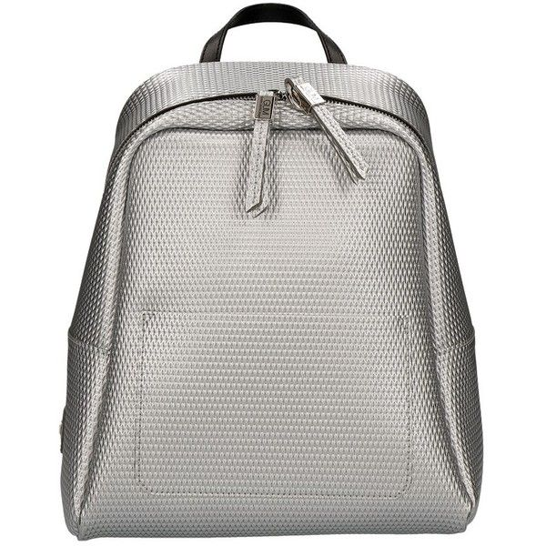 Gum by Gianni Chiarini Backpack in 3d Pearled Silver (€98) ❤ liked on Polyvore featuring bags, backpacks, silver, backpack bags, daypack bag, silver backpacks, day pack backpack and silver bags
