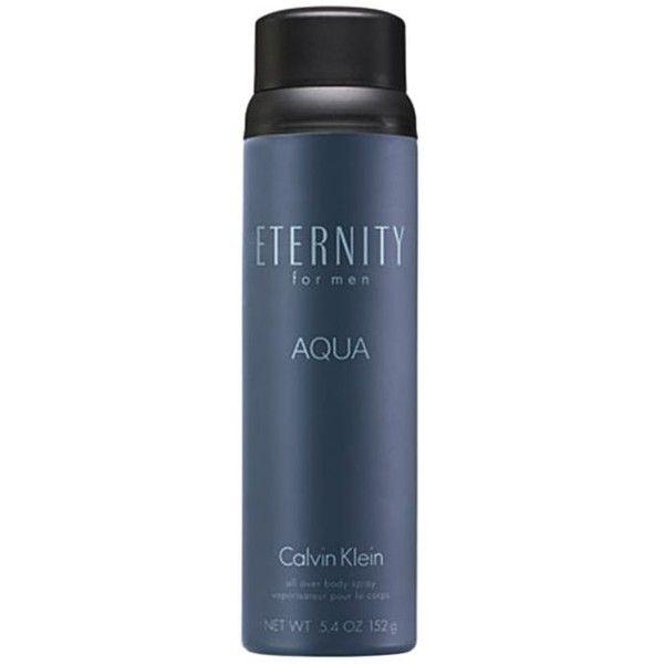 Calvin Klein Fragrances  Eternity For Men Aqua Body Spray ($22) ❤ liked on Polyvore featuring men's fashion