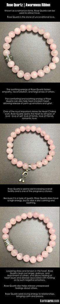 #Breast #Cancer # Awareness #Ribbons #BEADED #Yoga #BRACELETS - ♛ Lowering stress and tension in the #heart, #Rose #Quartz clears out anger, jealousy, and resentment of others, and allows healing of heart issues and disease associated with holding on to such negative emotions. #Survivor #Chakra #Mens #gifts #him #Stretch #Womens #jewelry #gifts #Tony #Robbins #Eckhart #Tolle #Crystals #Energy #gifts #Handmade #Healing #Kundalini #Law #Attraction #LOA #Love #Mala #Meditation #prayer #Hope