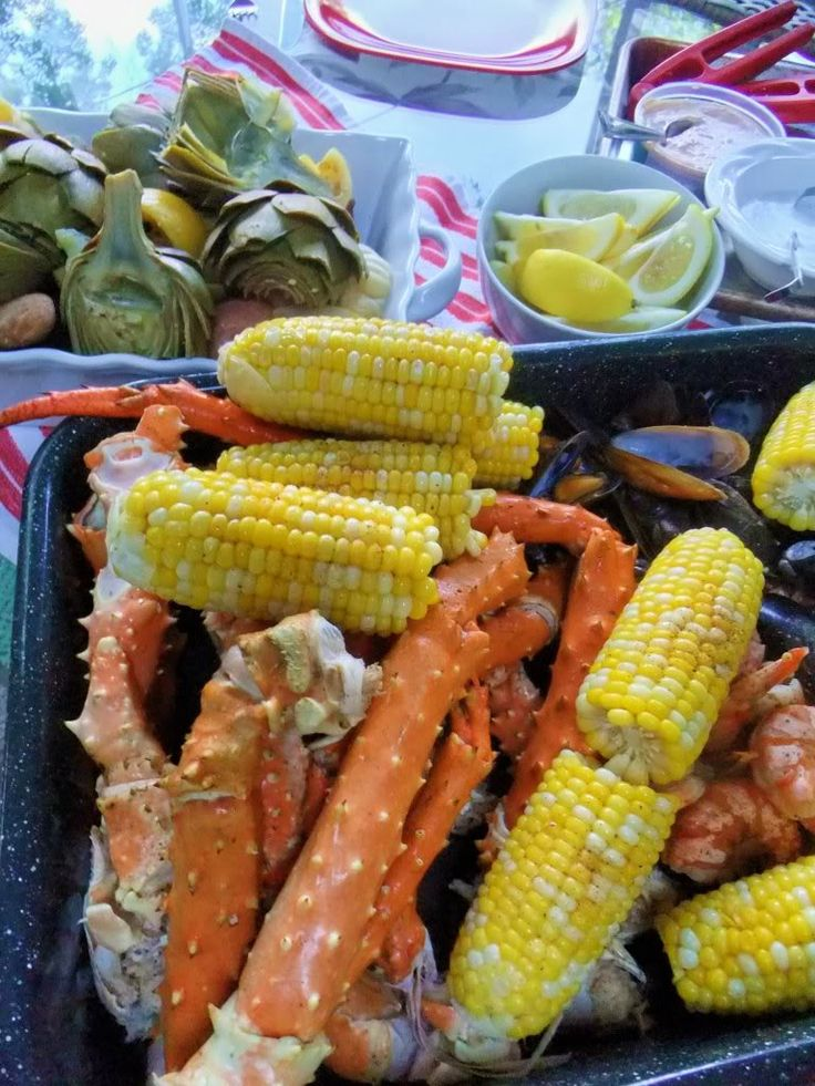 Seafood Boil. The easiest, healthiest, most delicious boil I have tried. We started making this for Easter years ago, but this recipe came later and is now our favorite.