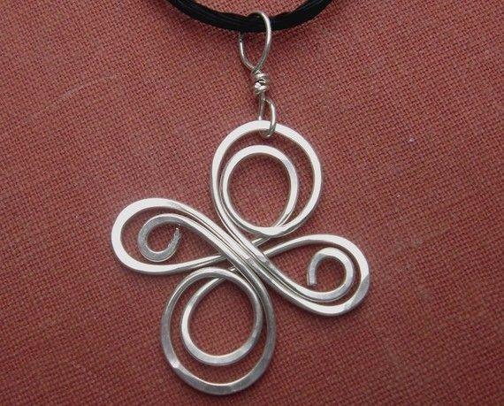 Nodo celtico Croce argento ciondolo Infinity di nicholasandfelice