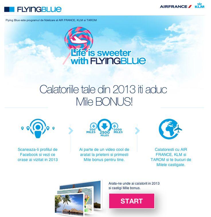 Creeaza filmul calatoriilor tale cu aplicatia de Facebook Flying Blue si primesti vouchere cadou si Mile Bonus