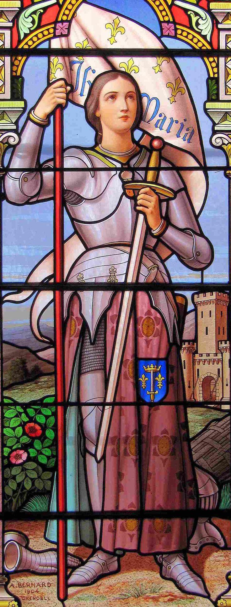 Jeanne d'Arc tableau 15 église de Chirens - Isère
