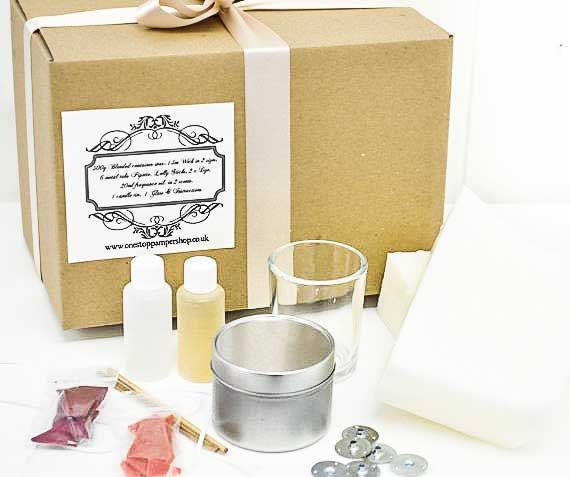 Container candle making kit by Onestoppampershop on Etsy, £15.00