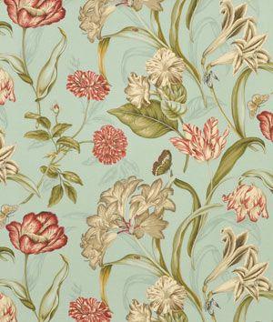 Waverly Somerset Botanical Sun N Shade Mist Fabric - $9.8   onlinefabricstore.net small pillows for bench