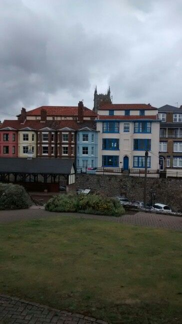 Colourful houses, Cromer seafront.