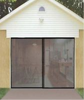 INSTANT GARAGE DOOR SCREEN w/MAGNETIC CLOSERS