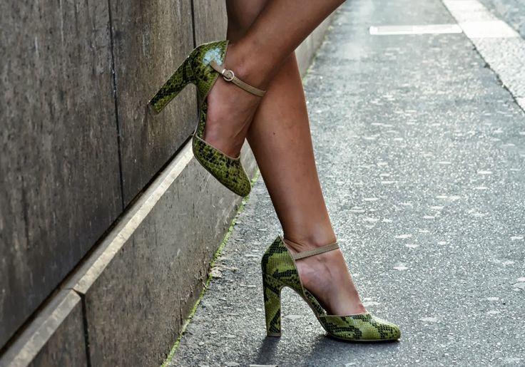 #fashion #shoes scarpe con tacco grosso