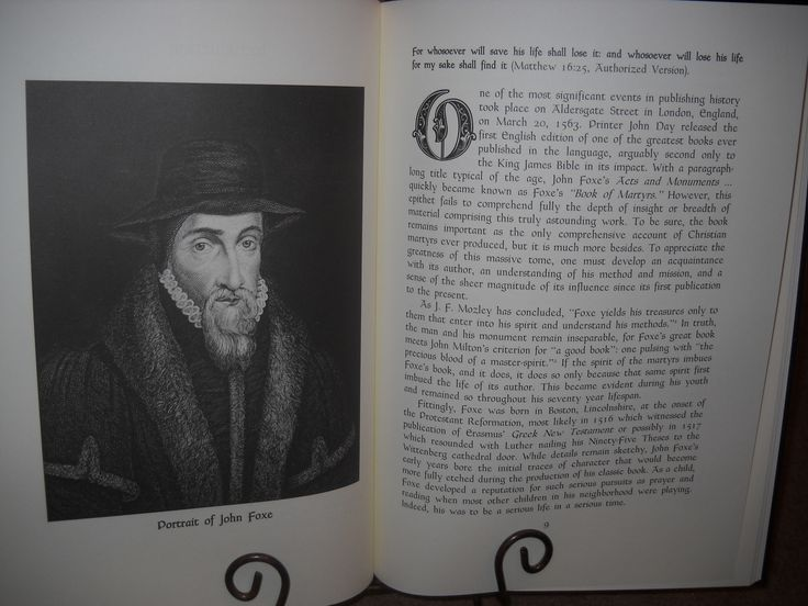 """A Portrait of John Foxe and the beginning of the essay, """"John Foxe and His Monument: A Theological-Historical Perspective"""""""
