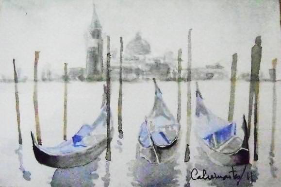 El Gran Canal de Venecia y San Giorgio Maggiori - Carlos Calvimontes Rojas