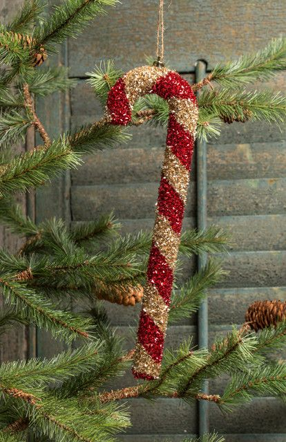 Large Candy Cane Ornaments - Set of 4 from The Holiday Barn