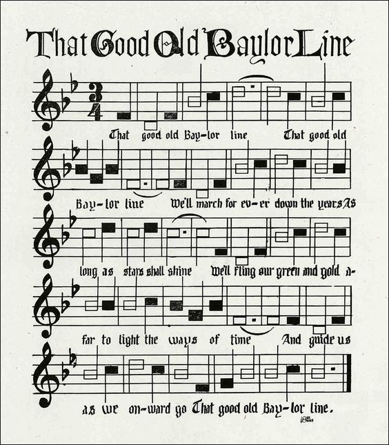 The story behind Baylor University's school song,