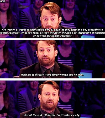 He understands the way of the world. | Community Post: 26 Reasons David Mitchell Is The Internet's Spirit Animal