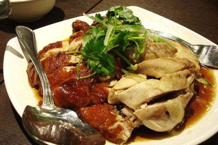 WeeNamKee Hainanese Chicken. Roasted and Steamed.