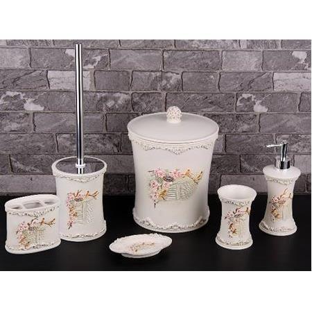 Gönül Polyester Banyo Seti, 6 Parça. Gönül banyo setleri ile banyolarınıza zerafet katın.