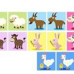 çiftlik hayvanları hafıza kartları