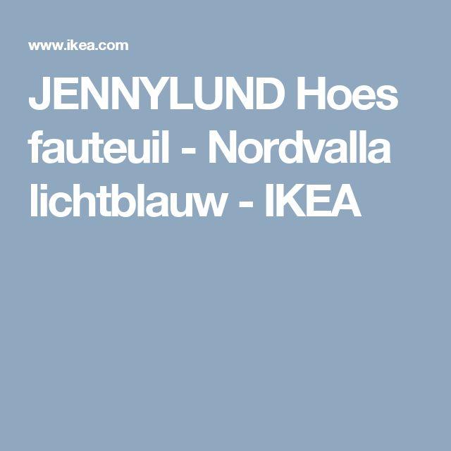JENNYLUND Hoes fauteuil - Nordvalla lichtblauw - IKEA